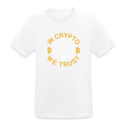 IN CRYPTO WE TRUST - Männer T-Shirt atmungsaktiv