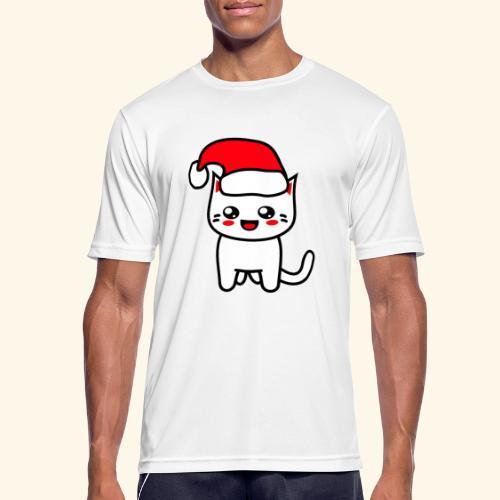 Kawaii Kitteh Christmashat - Männer T-Shirt atmungsaktiv
