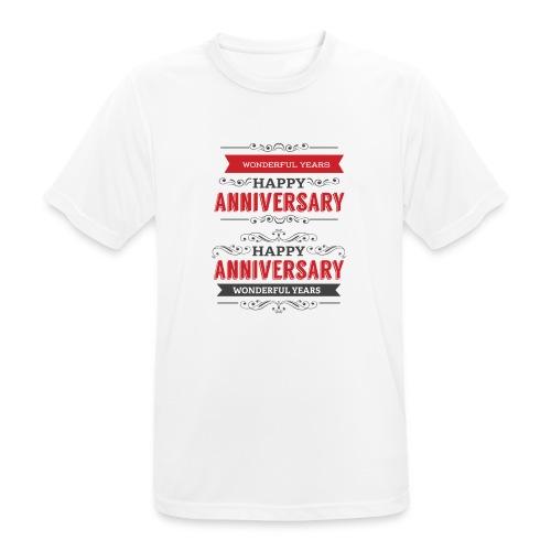 gift happy anniversary,wonderful years - T-shirt respirant Homme