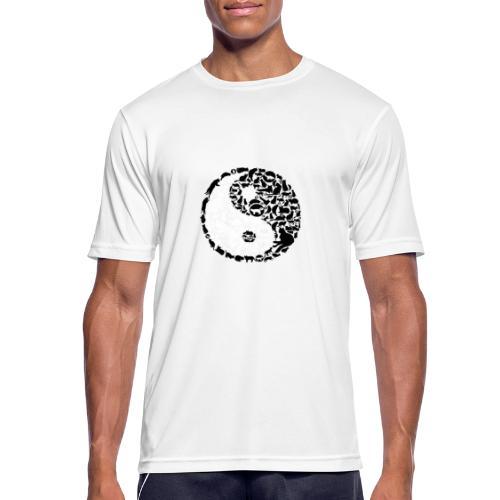 YinYang Cats - Männer T-Shirt atmungsaktiv