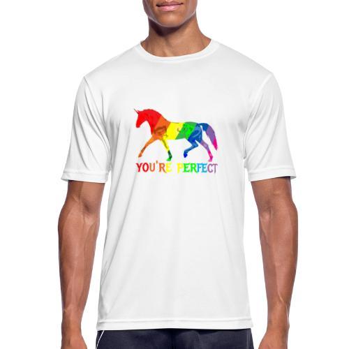 Regenbogen Einhorn - You´re perfect - Männer T-Shirt atmungsaktiv