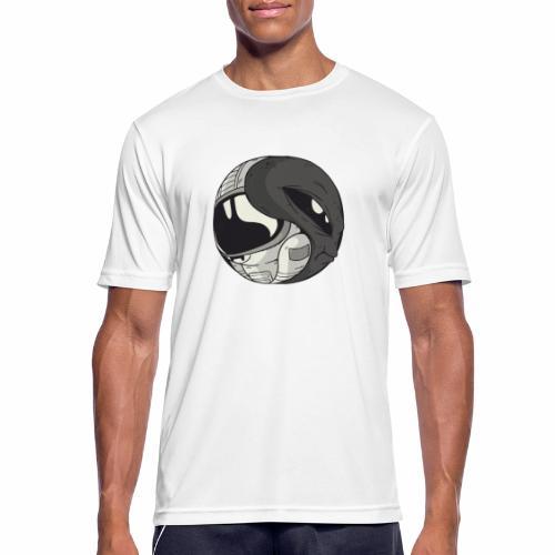Yin Yang space Alien und Astronaut - Männer T-Shirt atmungsaktiv