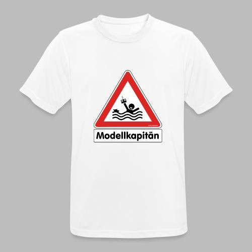 Warnschild Modellkapitän - Männer T-Shirt atmungsaktiv
