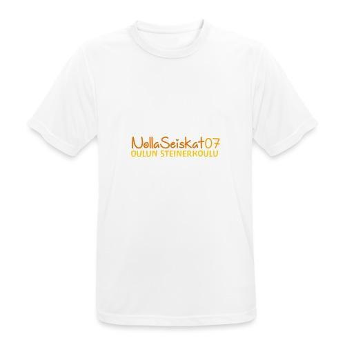 07-oulun-steiner-koulu-logo-merkki - miesten tekninen t-paita