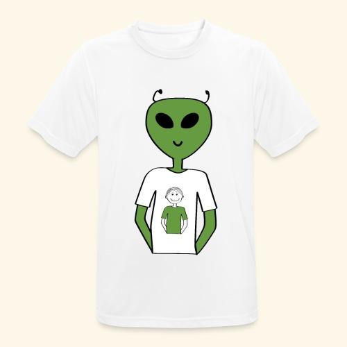 Alien human T shirt - Andningsaktiv T-shirt herr
