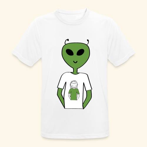 Alien human T-shirt T-shirt - Andningsaktiv T-shirt herr