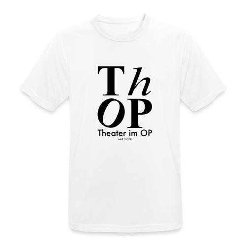 Grosses Logo SCHWARZ - Männer T-Shirt atmungsaktiv