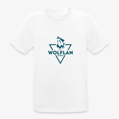 WolfLAN Logo Gray/Blue - Men's Breathable T-Shirt