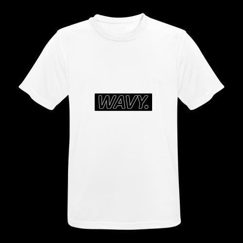 BLACK WAVY. RECTANGLE - T-shirt respirant Homme