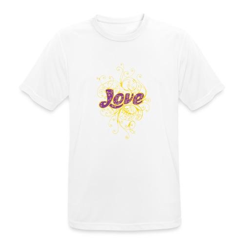 LOVE VIOLA CON DECORI - Maglietta da uomo traspirante