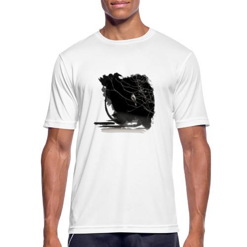 bird in zen circle above water bird on branch Zen - Men's Breathable T-Shirt