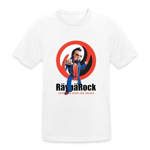 Räyhärock valkoinen - miesten tekninen t-paita