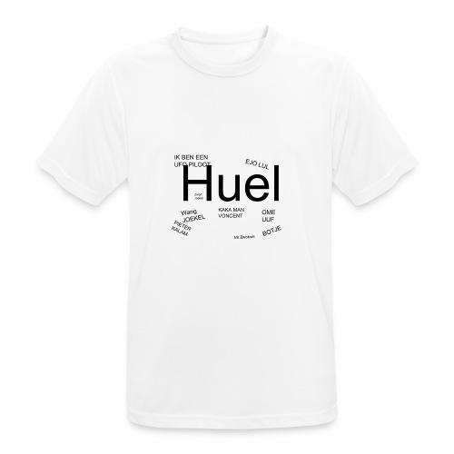 HUEL - Mannen T-shirt ademend actief