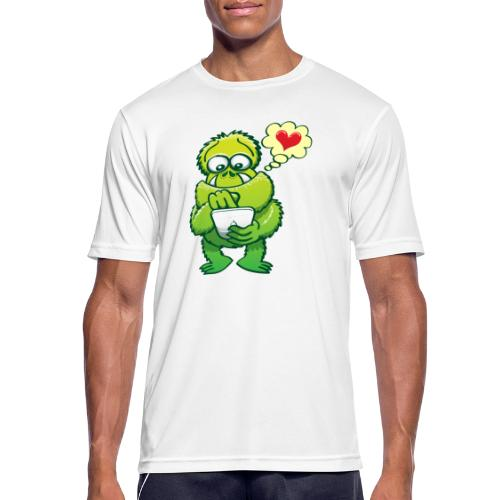 Ugly monster seeking love on the Internet - Men's Breathable T-Shirt