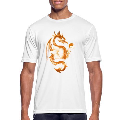 Der Drache spielt mit der Energie des Lebens. - Männer T-Shirt atmungsaktiv