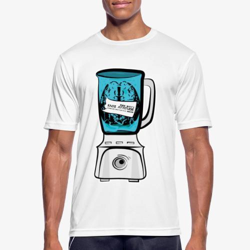Hirn im Mixer - neon blau - Männer T-Shirt atmungsaktiv