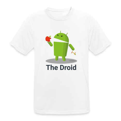 The Droid eats apple - Maglietta da uomo traspirante