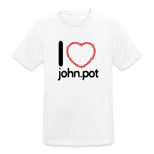 I Love John.pot - Men's Breathable T-Shirt
