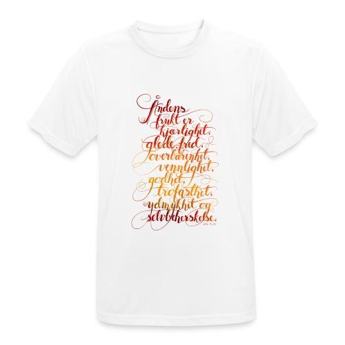 Åndens frukt - Pustende T-skjorte for menn