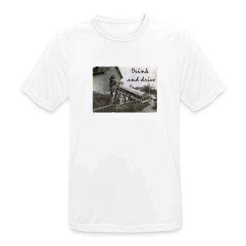 drink and drive - Andningsaktiv T-shirt herr