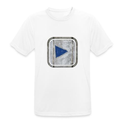 hier entlang ! - Männer T-Shirt atmungsaktiv