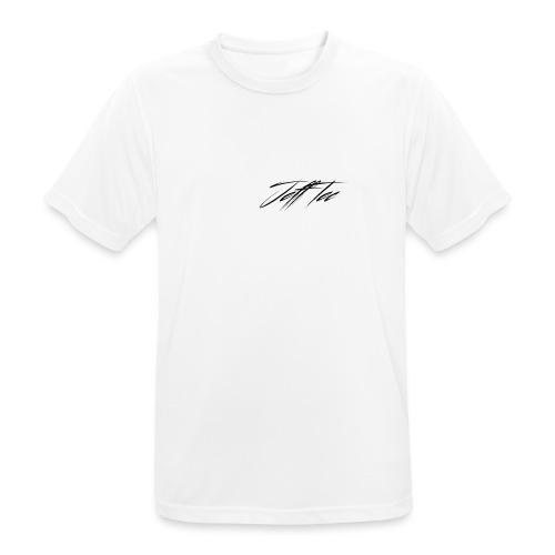 JeffTec Signature Logo White - Men's Breathable T-Shirt