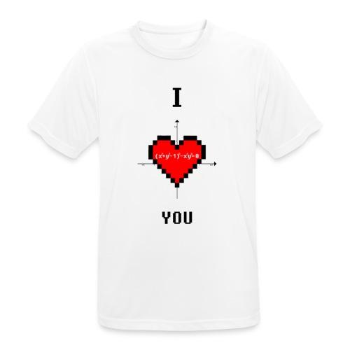 I LOVE YOU - Maglietta da uomo traspirante