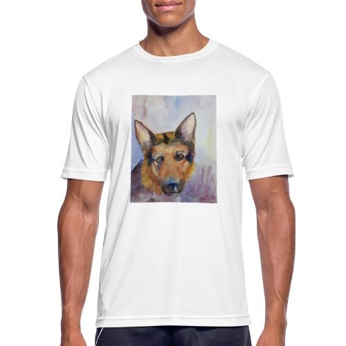 german shepherd wc - Herre T-shirt svedtransporterende