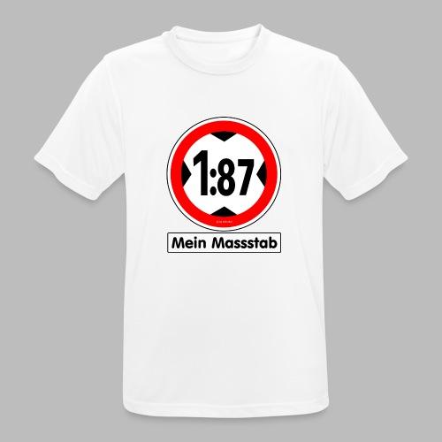 1:87 Mein Massstab - Männer T-Shirt atmungsaktiv