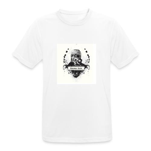 KOLMAS GETO LOGO VALMIS ISO RESOLUUTIO - miesten tekninen t-paita