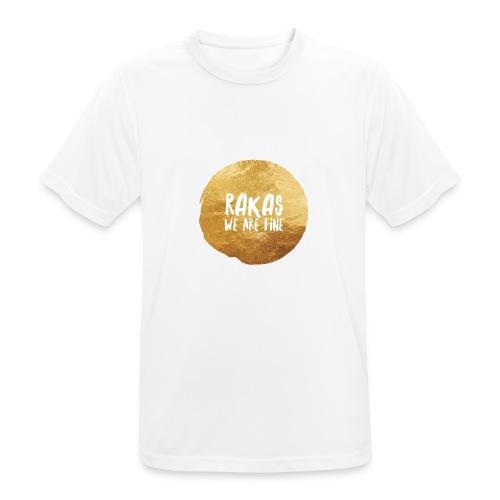 Rakas we are fine - miesten tekninen t-paita