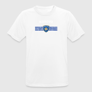 Kosovo-Flagge Shirt - Kosovo Kosovo-Flaggen-Abzeichen & Sh - Männer T-Shirt atmungsaktiv