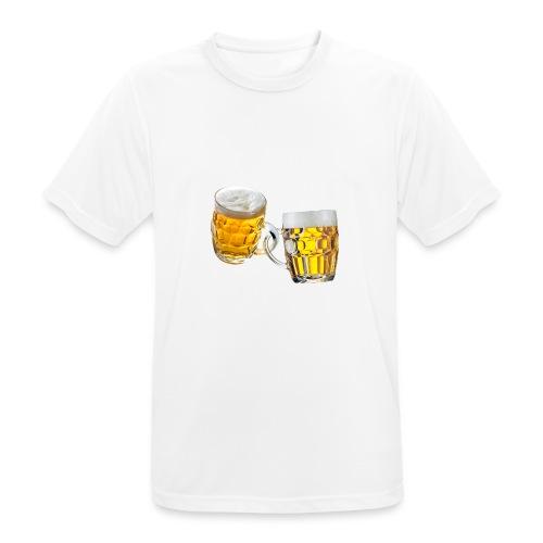 Boccali di birra - Maglietta da uomo traspirante