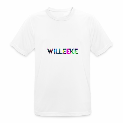 willeeke graffiti whitbar - Andningsaktiv T-shirt herr