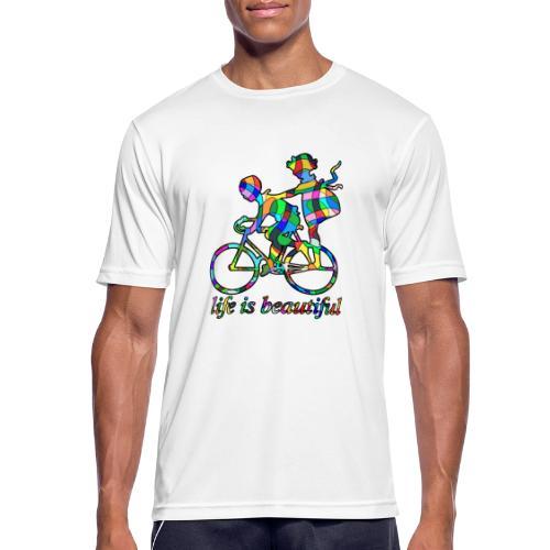 Life is beautiful - Männer T-Shirt atmungsaktiv