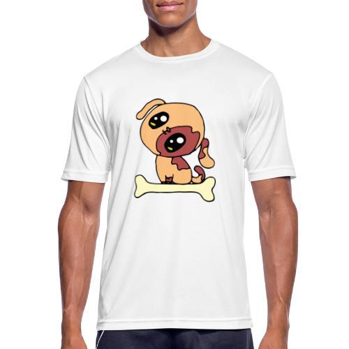 Kawaii le chien mignon - T-shirt respirant Homme