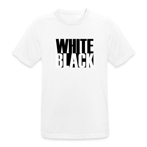 White, Black T-shirt - Mannen T-shirt ademend actief