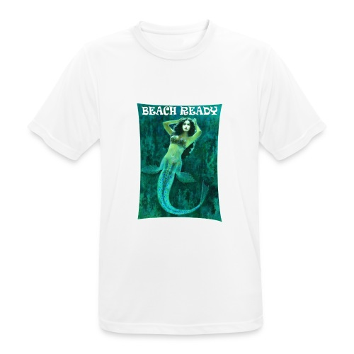 Vintage Pin-up Beach Ready Mermaid - Men's Breathable T-Shirt