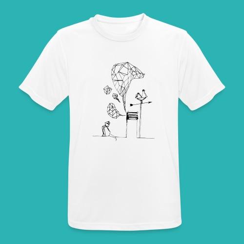 Carta_gatta-png - Maglietta da uomo traspirante