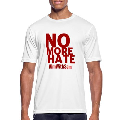No More Hate- Red Text - Men's Breathable T-Shirt