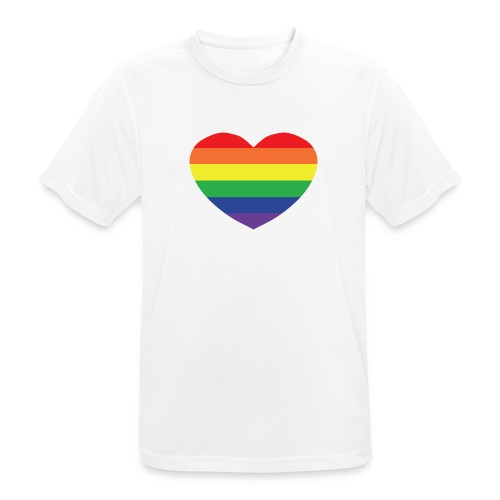 Rainbow heart - Men's Breathable T-Shirt
