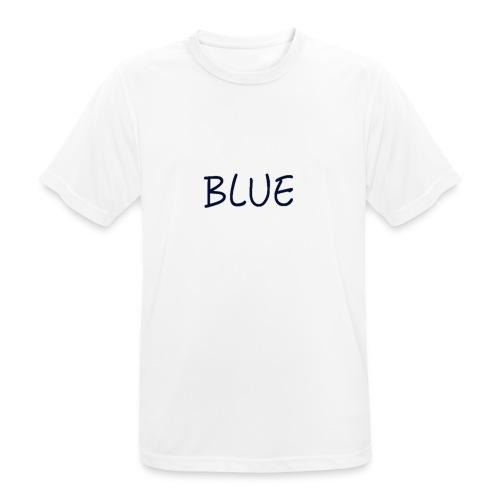 BLUE - Mannen T-shirt ademend