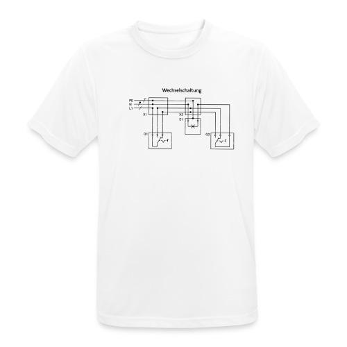 Wechselschaltung schwarz - Männer T-Shirt atmungsaktiv