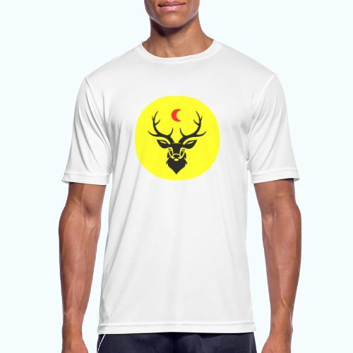 Hipster deer - Men's Breathable T-Shirt