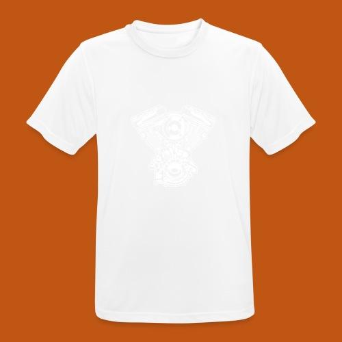 Motorrad Motor / Engine 01_weiß - Männer T-Shirt atmungsaktiv