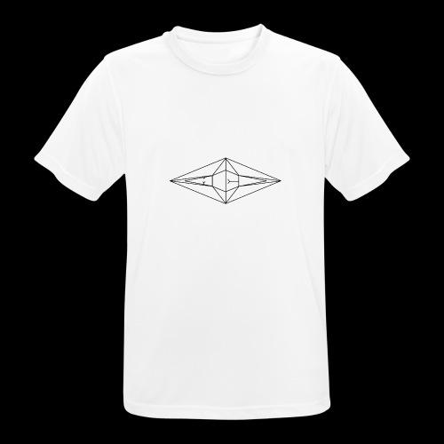 Schwarz-Weiß Meo Logo - Männer T-Shirt atmungsaktiv