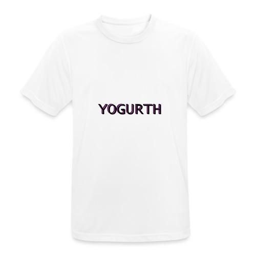 YOGURTH black 3D - Maglietta da uomo traspirante