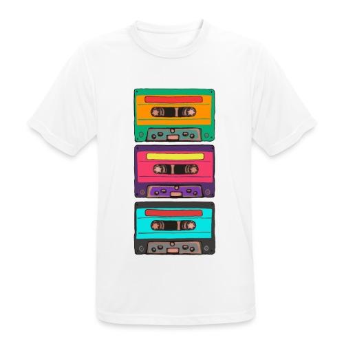 Colorful Cassettes row - Andningsaktiv T-shirt herr