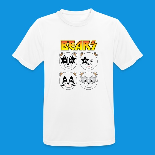 Kiss Bears square.png - Men's Breathable T-Shirt