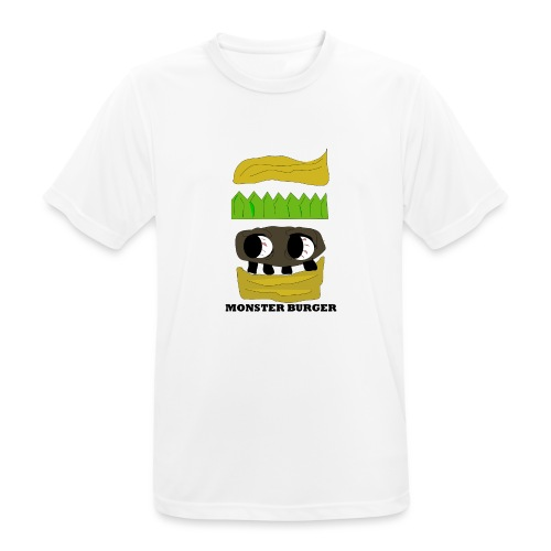 MONSTER BURGER - Männer T-Shirt atmungsaktiv